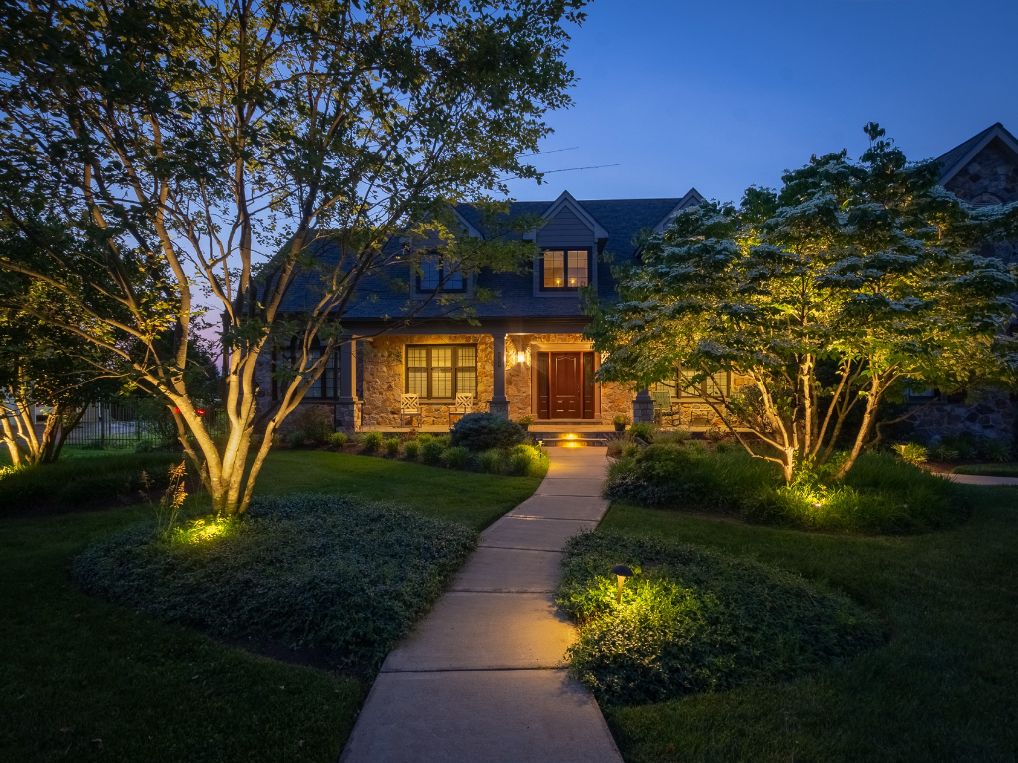 Beautiful Landscape Lighting, Property Management, Elyria, OH